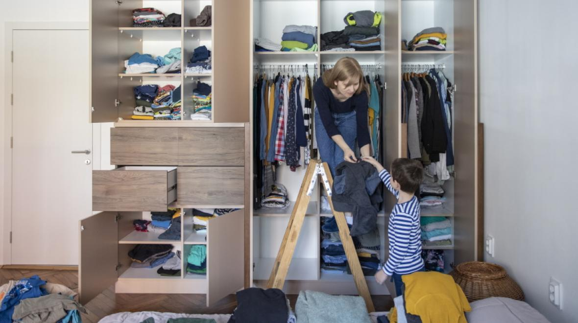 Mom-organizing-clothes