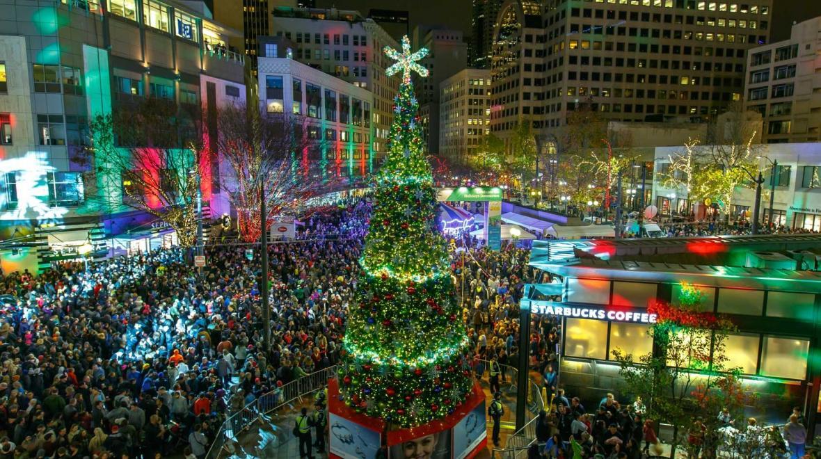 Westlake Center Christmas 2021 Westlake Holiday Tree Lighting Seattle Area Family Fun Calendar Parentmap