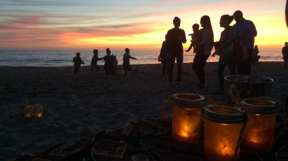 A walk On The Beach Lantern