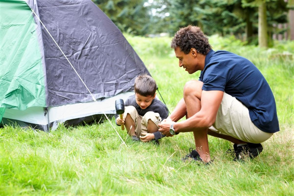 Image result for dads and children camping
