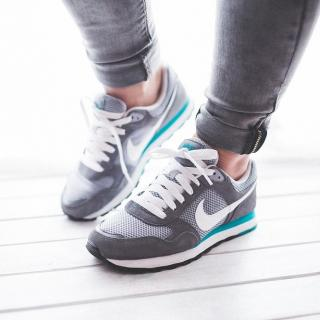 Woman's feet in running shoes