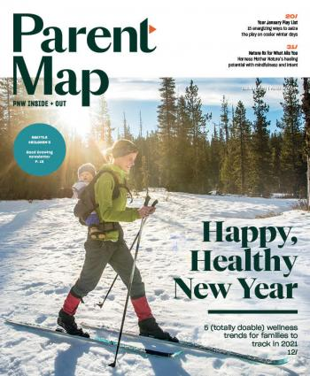 Cover of the January 2021 issue of ParentMap magazine