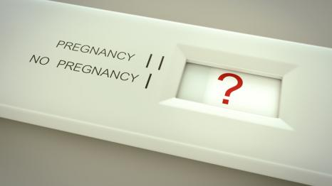 Unclear pregnancy test