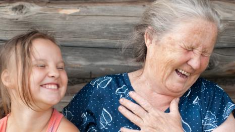 Grandma with granddaughter