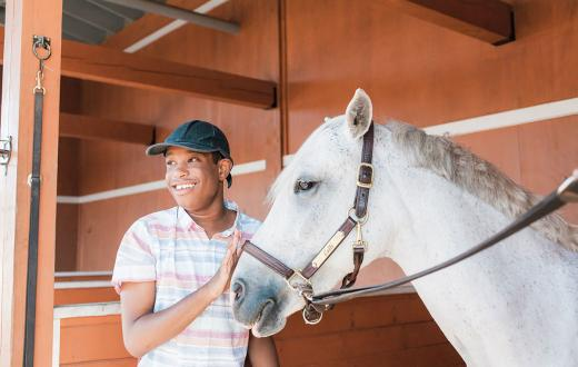 Equine-Assisted Therapy Photo