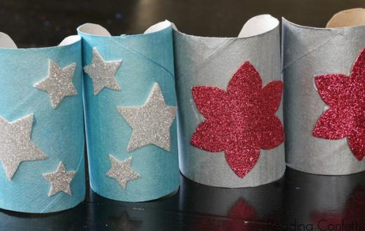 Homemade superhero cuffs
