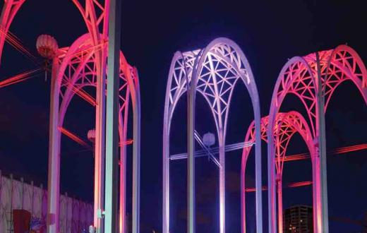 Arches over Pacific Science Center
