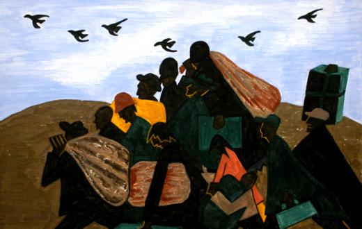Panel 3, from Jacob Lawrence's Migration Series