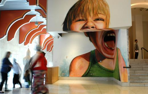 Mural on the Seattle Art Museum's art ladder