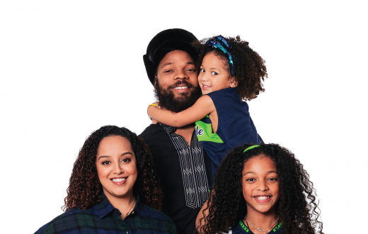 Michael Bennett and family