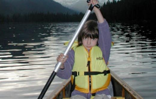 Child canoeing