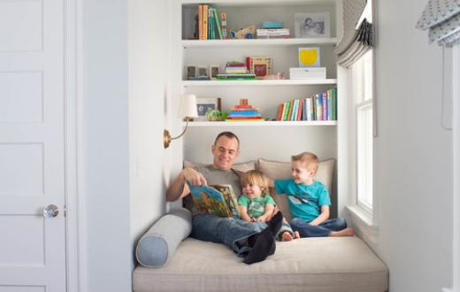 Cozy reading nook from Houzz