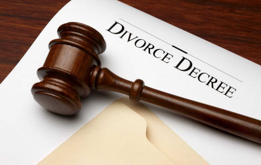 Gavel and divorce decree