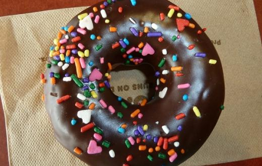 Doughnut-with-chocolate-sprinkles