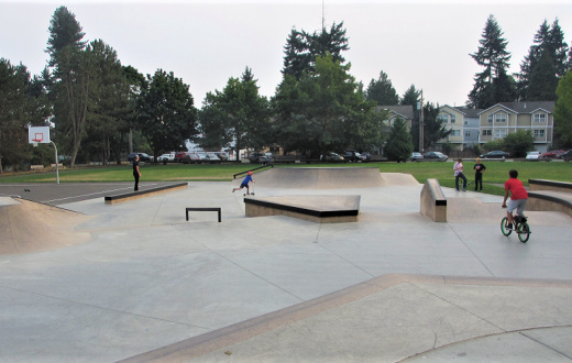 Skate spot at Virgial Flaim