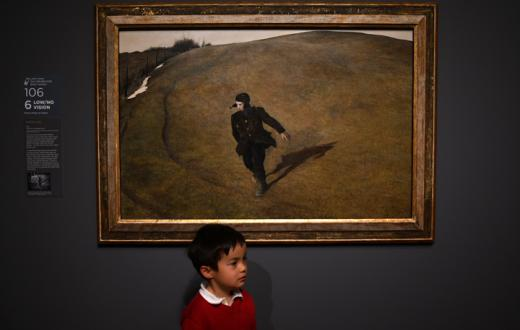 Child at SAM's Andrew Wyeth exhibit