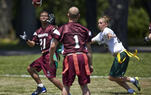 Flag football competitors at the Special Olympics USA Games in 2014