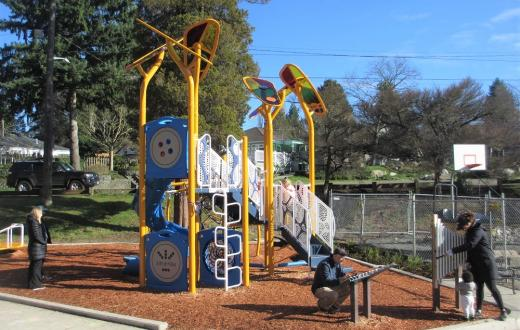 Victory Heights playground play structure