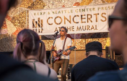 A shot from last year's KEXP Concerts at the Mural