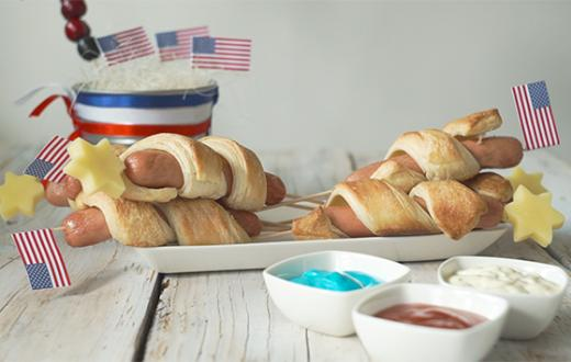 Kid-friendly red, white and blue snacks