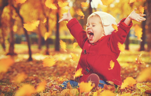 Cute kid in fall
