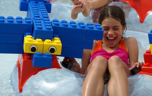 Legoland water park girl playing