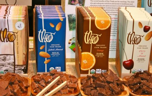 Theo Chocolate free samples on tour