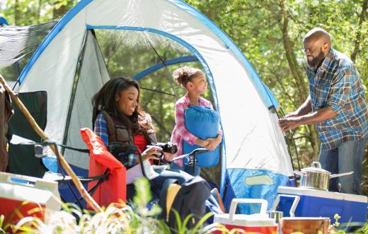 Black family camping outdoor recreation