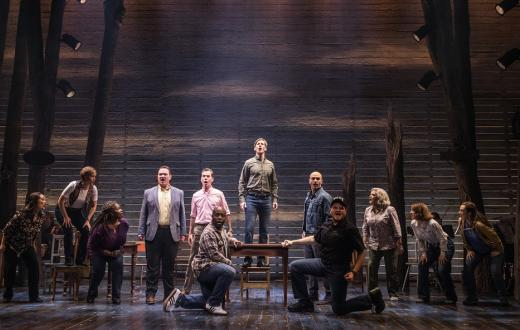 Cast of Come From Away at Seattle's 5th Avenue Theatre