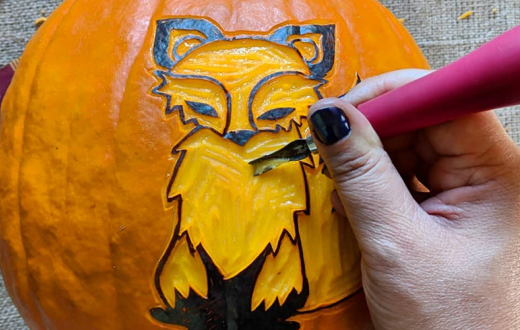 fox pumpkin carving