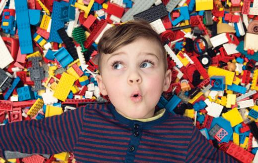 boy with legos