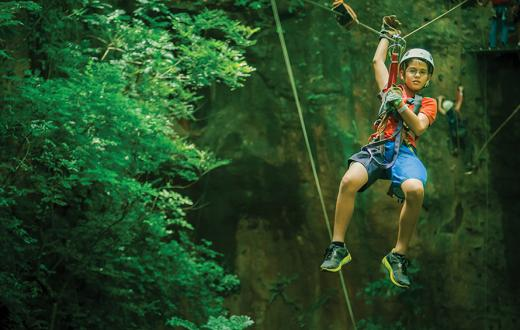 zipline experience gift for kids