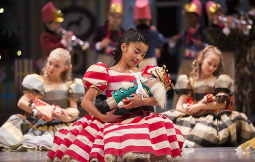 Clara with her nutcracker