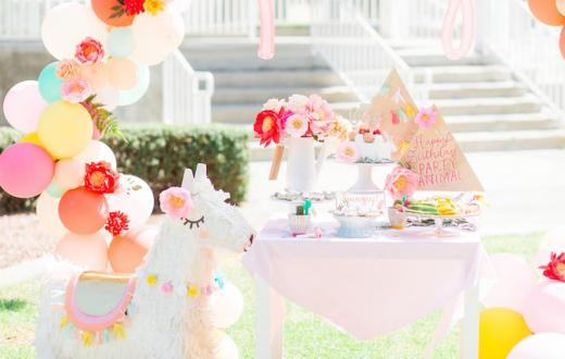 llama birthday party theme