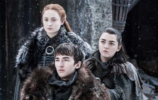 Sansa, Bran and Arya Stark