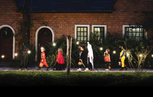 kids after dark trick-or-treating