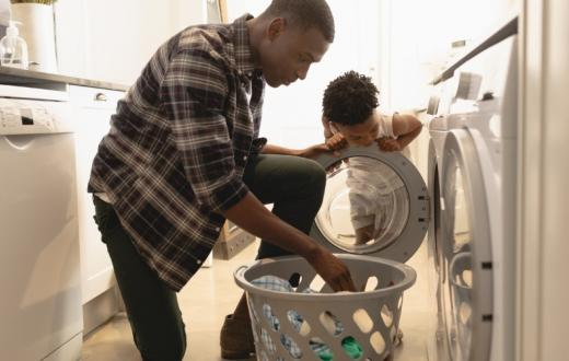 Dad-and-son-doing-laundry