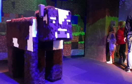 Minecraft-cow-character-Mopop-minecraft-the-exhibition-new-museum-review
