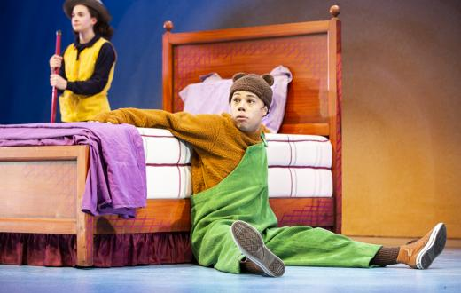 Chip Sherman and Zoe Papadakis in SCT's 2019 production of Corduroy