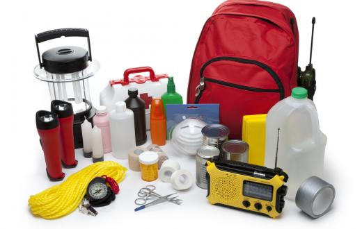 Items for an emergency preparedness kit