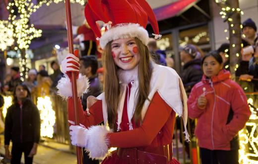 snowflake lane 2015 woman dressed in red smiling