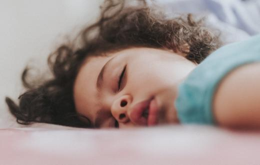 closeup of a kiddo sleeping heavily