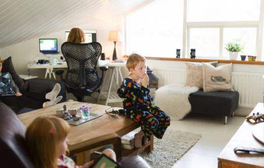 Mom-working-from-home-with-kids