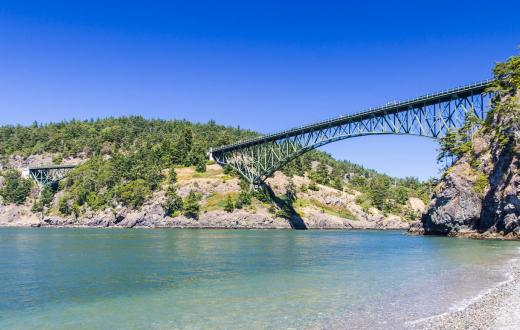 Deception Pass Bridge Washington State campground families kids summer fun
