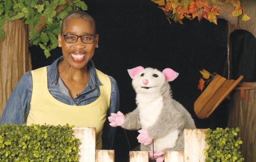 auntie lena and puppet possum