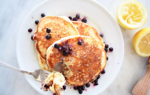 blueberry ricotta pancakes from the spruce eats