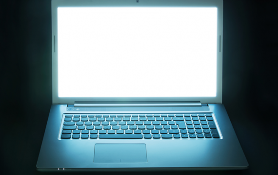 Glowing laptop