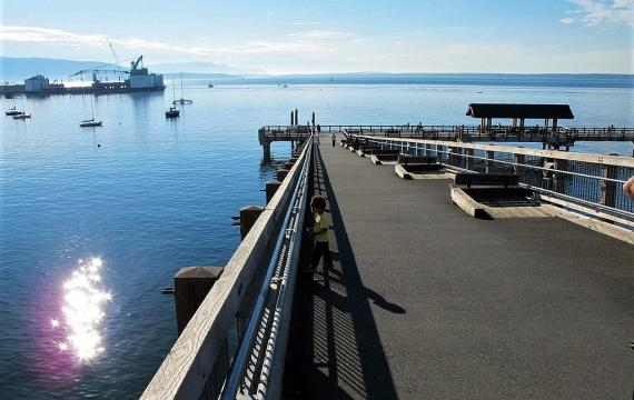 Taylor Avenue dock and boardwalk to Boulevard Park in Bellingham