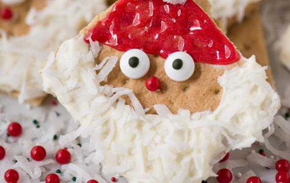 santa graham cracker cookies