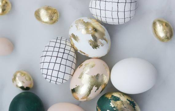 gold leaf egg decoration